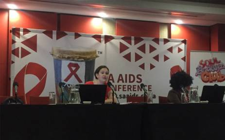 Genesis manager Sarah Magni at the briefing on the study at the 8th SA AIDS conference in Durban